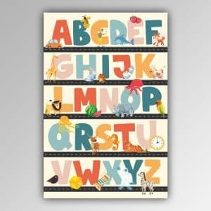 Spielhandtuch ABC-Alphabet Motiv - upina.de