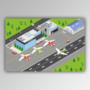 Spielhandtuch Flughafen Motiv - upina.de