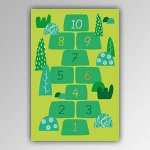Spielhandtuch Hopse-Spiel grün Motiv - upina.de