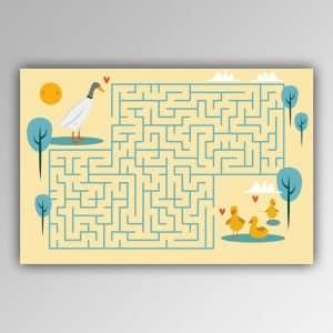 Spielhandtuch Labyrinth-Enten Motiv - upina.de