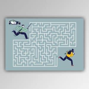 Spielhandtuch Labyrinth-Polizist Motiv - upina.de