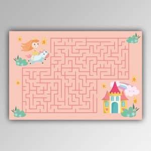 Spielhandtuch Labyrinth-Prinzessin Motiv - upina.de