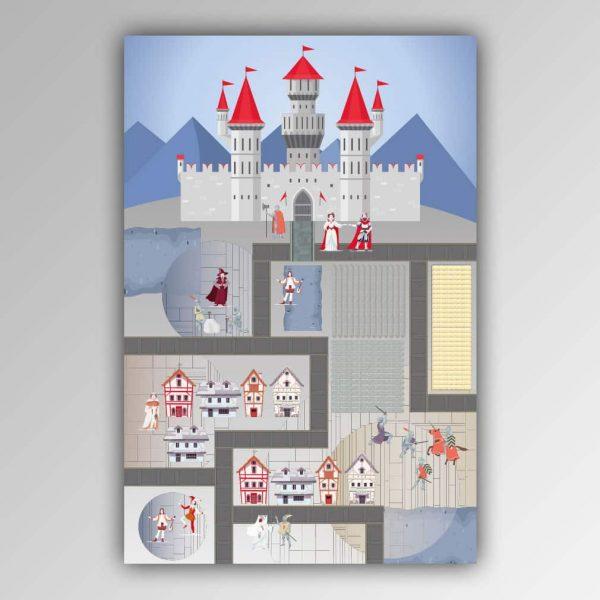 Spielhandtuch Ritter-Burg Motiv - upina.de