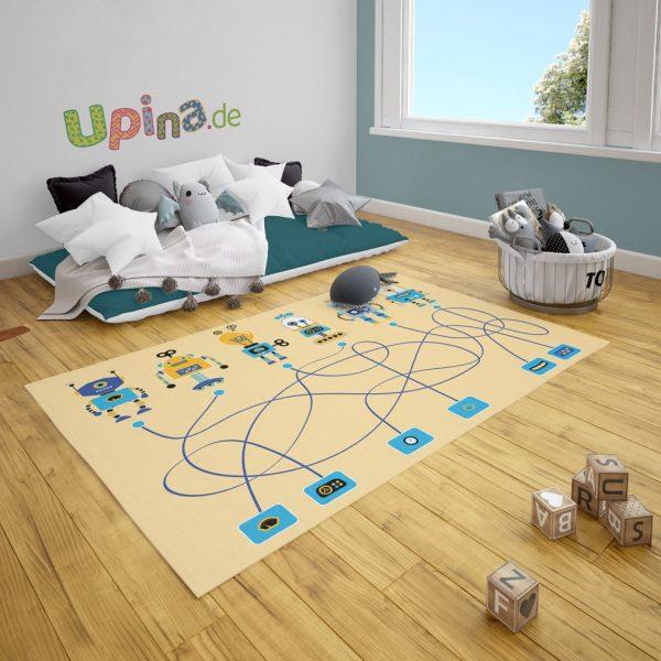 Spielteppich Roboter Spiel von upina.de