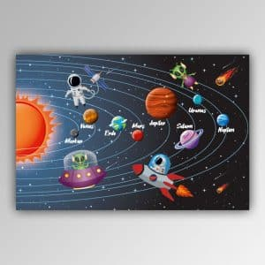 Spielhandtuch Sonnensystem Motiv - upina.de