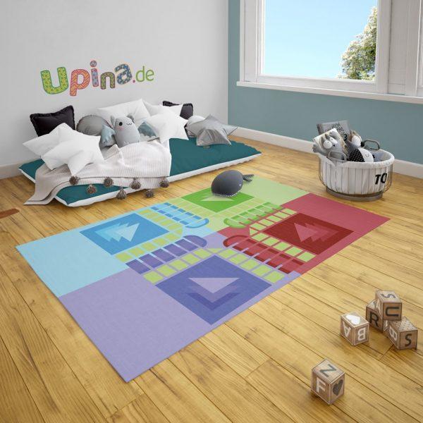 Spielteppich Spielbrett grün von upina.de