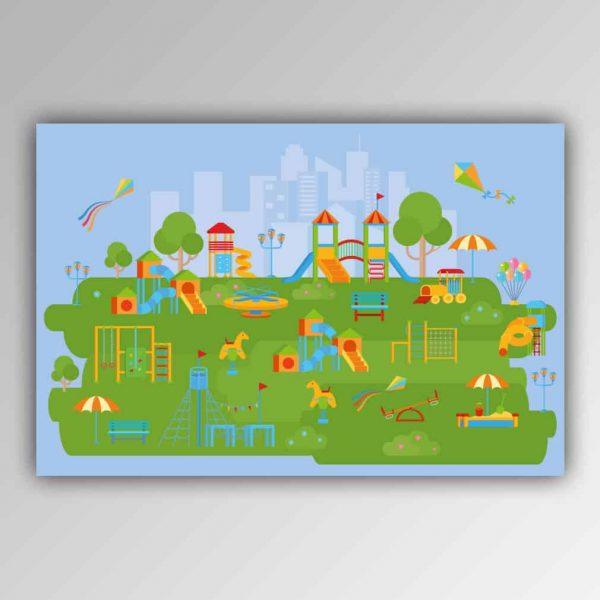 Spielhandtuch Spielplatz Motiv - upina.de