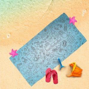 Handtuch Spielzeug blau Motiv - upina.de