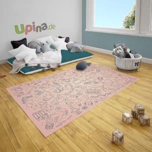 Spielteppich Spielzeug rosa von upina.de