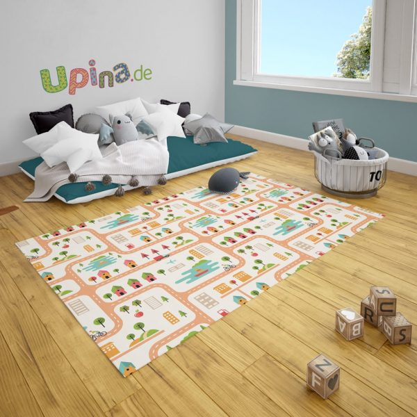 Spielteppich Straßen bunt von upina.de
