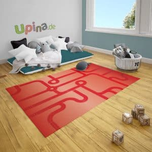 Spielteppich Straßen rot von upina.de
