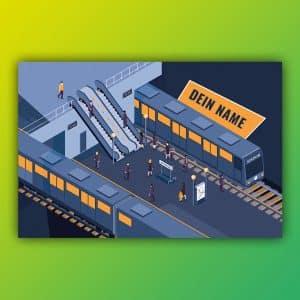 Spielteppich Bahnhof individuell von upina.de