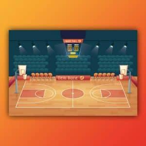 Spielteppich Basketball individuell von upina.de