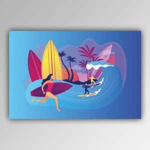 Spielhandtuch Surfing Motiv - upina.de